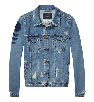 Maison Scotch Denim jacks 138372 Blue denim