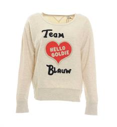 Maison Scotch Fleece truien 138472 Grijs melee