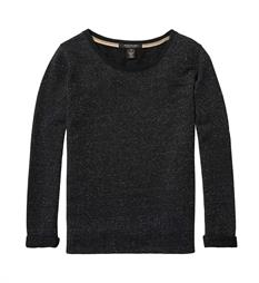 Maison Scotch Fleece truien 142222 Zwart
