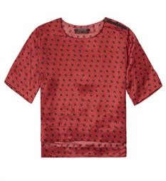 Maison Scotch T-shirts 141061 Rood dessin