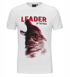 Malelions Korte mouw T-shirts Leader of the p Wit