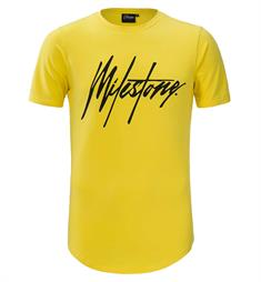 Milestone Relics Korte mouw T-shirts Signature t-shi Geel