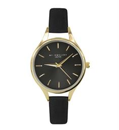 My Jewellery Horloges Classic watch black Zwart