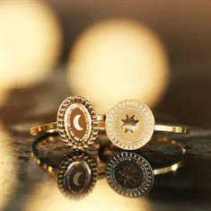 My Jewellery Ringen Galaxy ring - star coin Goud