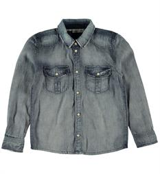 Name it Lange mouw blouses 13139512 Blue denim