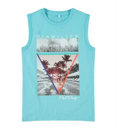 Name it Tanktop 13170155 nkmjistan sl slim top Aqua