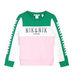 Nik and Nik Fleece truien G8-846 patrina Groen dessin