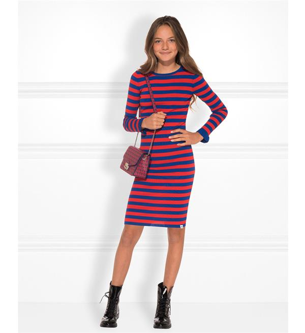 nik-and-nik-korte-jurken-g7-018-1904-jolie-stripe-dress-rood