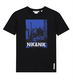 Nik and Nik Korte mouw T-shirts B8-950 1904 manhattan t-shirt Zwart