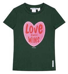 Nik and Nik Korte mouw T-shirts G8-013 1904 love wins t-shirt Groen