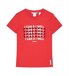 Nik and Nik Korte mouw T-shirts G8-103 1805 can and will Rood
