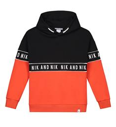 Nik and Nik Sweatshirts B8-940 1904 marvus hoodie Oranje