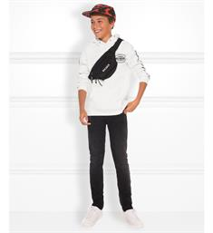 Nik and Nik Sweatshirts B8-944 1904 how we do hoodie Off-white