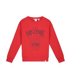 Nik and Nik Sweatshirts G8-105 1905 nik star sweater Rood