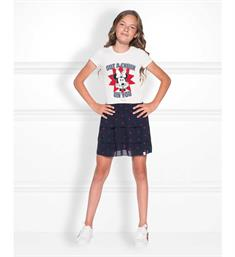 Nik and Nik T-shirts G8-488 minnie c Off white
