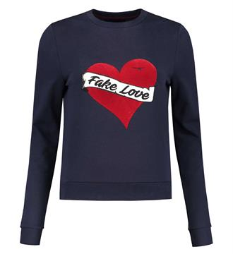 Nikkie Fleece truien N8-811 love swe Navy