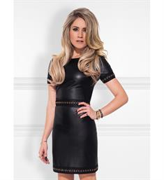 Nikkie Korte jurken N5-569 1905 macha dress Zwart