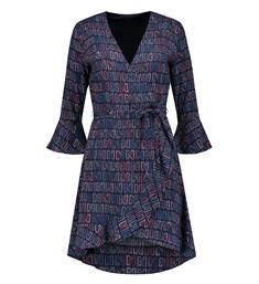Nikkie Korte jurken N5-953 1904 logomania dress Blauw