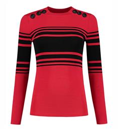 Nikkie Lange mouw T-shirts N7-011 1902 Rood