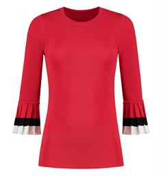 Nikkie Lange mouw T-shirts N7-19 1902 Rood
