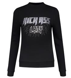 Nikkie Sweatshirts N8-842 kick ass Zwart