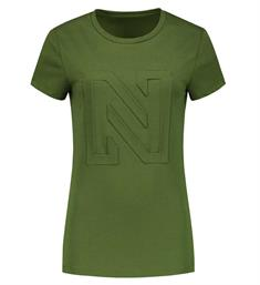 Nikkie T-shirts N6-275 3d logo Army
