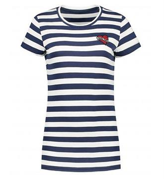 Nikkie T-shirts N6-812 striped Navy dessin