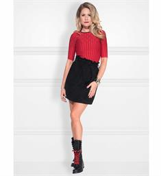 Nikkie Tops N7-481 jenna to Rood dessin