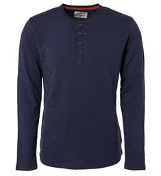 No excess Lange mouw T-shirts 90120204 Navy