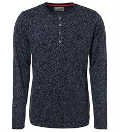No excess Lange mouw T-shirts 92150850 Navy
