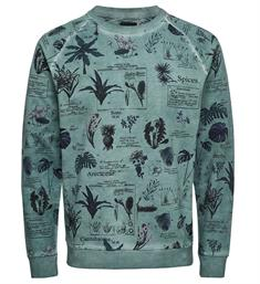 Only and Sons Fleece truien 22010137 rogan Groen dessin