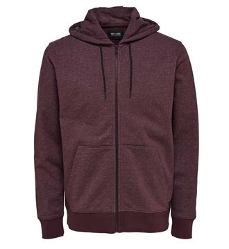 Only and Sons Fleece vesten 22004472 fiske Bordeaux