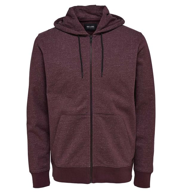 only-and-sons-fleece-vesten-22004472-fiske-bordeaux
