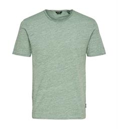 Only and Sons Korte mouw T-shirts 22005108 onsalbert new ss tee Groen