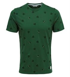 Only and Sons Korte mouw T-shirts 22012256 epus Groen