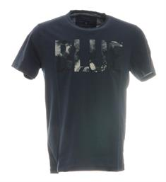 Only and Sons Korte mouw T-shirts 22012555 onsalbert front print Navy