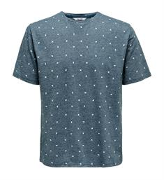 Only and Sons Korte mouw T-shirts 22012561 onslang ss ditsy Blauw