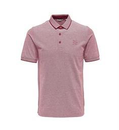 Only and Sons Polo's 22006560 stan Gewassen rood