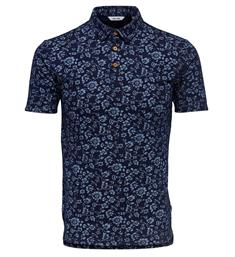 Only and Sons Polo's 22011089 milos Blauw dessin