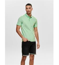 Only and Sons Polo's 22011349 onsstan ss fitted Groen
