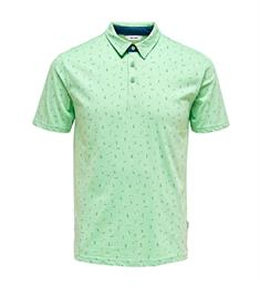 Only and Sons Polo's 22012573 onsliam ss polo Groen