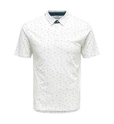 Only and Sons Polo's 22012573 onsliam ss polo Wit