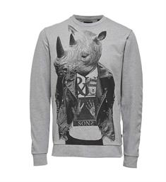 Only and Sons Sweatshirts 22008375 vill a Grijs melee