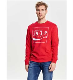 Only and Sons Sweatshirts 22009696 coca c Rood
