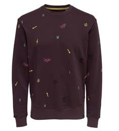 Only and Sons Sweatshirts 22010986 wooley Bordeaux