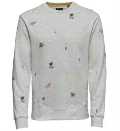 Only and Sons Sweatshirts 22010986 wooley Grijs melee