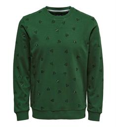 Only and Sons Sweatshirts 22011843 opus a Groen