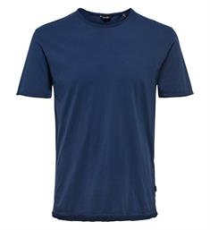 Only and Sons T-shirts 22008773 albert Blauw