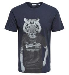 Only and Sons T-shirts 22009250 simon Navy