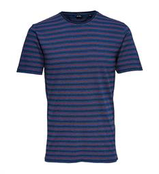 Only and Sons T-shirts 22009336 indigo Blauw dessin